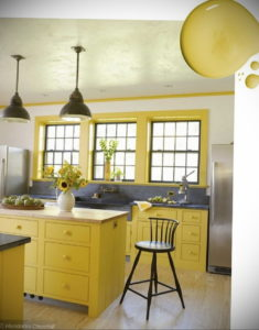 желтый цвет в интерьере кухни 09.10.2019 №012 -yellow in interior- design-foto.ru