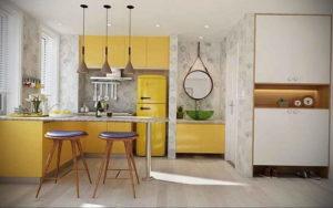 желтый цвет в интерьере кухни 09.10.2019 №014 -yellow in interior- design-foto.ru