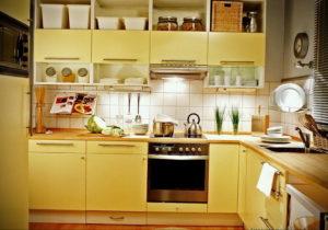 желтый цвет в интерьере кухни 09.10.2019 №015 -yellow in interior- design-foto.ru