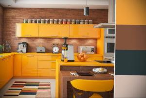желтый цвет в интерьере кухни 09.10.2019 №016 -yellow in interior- design-foto.ru