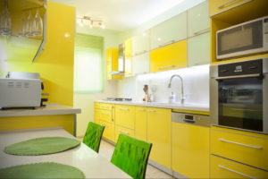 желтый цвет в интерьере кухни 09.10.2019 №017 -yellow in interior- design-foto.ru