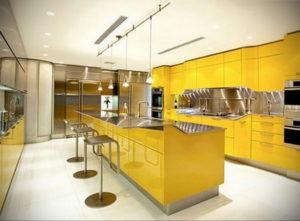 желтый цвет в интерьере кухни 09.10.2019 №021 -yellow in interior- design-foto.ru