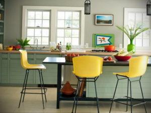 желтый цвет в интерьере кухни 09.10.2019 №022 -yellow in interior- design-foto.ru