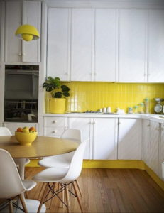 желтый цвет в интерьере кухни 09.10.2019 №024 -yellow in interior- design-foto.ru