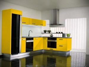 желтый цвет в интерьере кухни 09.10.2019 №025 -yellow in interior- design-foto.ru