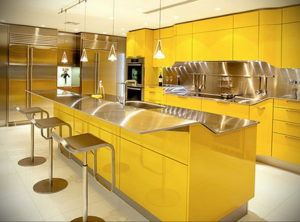 желтый цвет в интерьере кухни 09.10.2019 №027 -yellow in interior- design-foto.ru