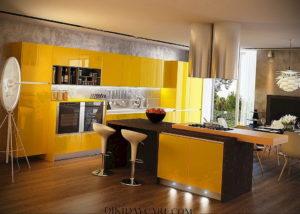желтый цвет в интерьере кухни 09.10.2019 №028 -yellow in interior- design-foto.ru