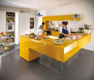 желтый цвет в интерьере кухни 09.10.2019 №030 -yellow in interior- design-foto.ru