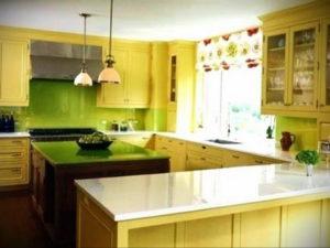 желтый цвет в интерьере кухни 09.10.2019 №031 -yellow in interior- design-foto.ru