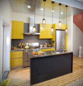 желтый цвет в интерьере кухни 09.10.2019 №033 -yellow in interior- design-foto.ru