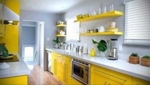 желтый цвет в интерьере кухни 09.10.2019 №034 -yellow in interior- design-foto.ru
