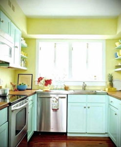 желтый цвет в интерьере кухни 09.10.2019 №036 -yellow in interior- design-foto.ru