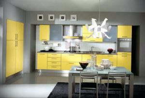 желтый цвет в интерьере кухни 09.10.2019 №041 -yellow in interior- design-foto.ru