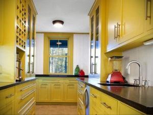 желтый цвет в интерьере кухни 09.10.2019 №045 -yellow in interior- design-foto.ru