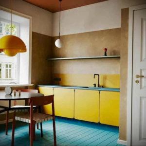 желтый цвет в интерьере кухни 09.10.2019 №046 -yellow in interior- design-foto.ru