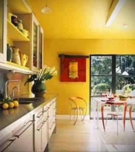 желтый цвет в интерьере кухни 09.10.2019 №048 -yellow in interior- design-foto.ru