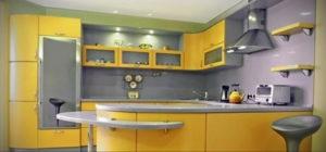 желтый цвет в интерьере кухни 09.10.2019 №049 -yellow in interior- design-foto.ru
