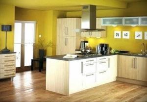 желтый цвет в интерьере кухни 09.10.2019 №050 -yellow in interior- design-foto.ru