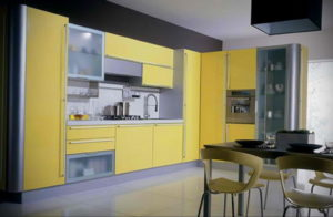 желтый цвет в интерьере кухни 09.10.2019 №051 -yellow in interior- design-foto.ru