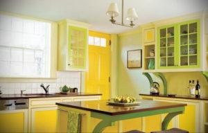 желтый цвет в интерьере кухни 09.10.2019 №052 -yellow in interior- design-foto.ru