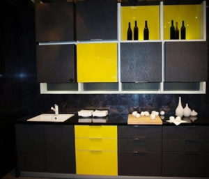 желтый цвет в интерьере кухни 09.10.2019 №058 -yellow in interior- design-foto.ru
