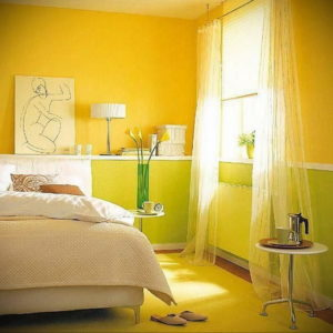 желтый цвет в интерьере спальни 09.10.2019 №001 -yellow in interior- design-foto.ru
