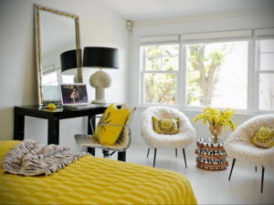желтый цвет в интерьере спальни 09.10.2019 №013 -yellow in interior- design-foto.ru