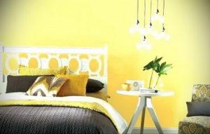 желтый цвет в интерьере спальни 09.10.2019 №014 -yellow in interior- design-foto.ru