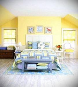 желтый цвет в интерьере спальни 09.10.2019 №018 -yellow in interior- design-foto.ru
