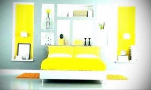 желтый цвет в интерьере спальни 09.10.2019 №028 -yellow in interior- design-foto.ru