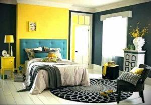 желтый цвет в интерьере спальни 09.10.2019 №038 -yellow in interior- design-foto.ru