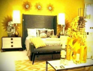 желтый цвет в интерьере спальни 09.10.2019 №039 -yellow in interior- design-foto.ru
