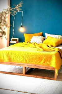 желтый цвет в интерьере спальни 09.10.2019 №041 -yellow in interior- design-foto.ru