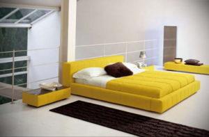 желтый цвет в интерьере спальни 09.10.2019 №046 -yellow in interior- design-foto.ru