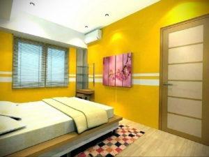 желтый цвет в интерьере спальни 09.10.2019 №047 -yellow in interior- design-foto.ru