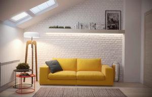 желтый цвет стен в интерьере 09.10.2019 №002 -yellow in interior- design-foto.ru