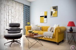 желтый цвет стен в интерьере 09.10.2019 №005 -yellow in interior- design-foto.ru