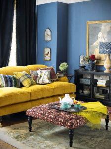 желтый цвет стен в интерьере 09.10.2019 №007 -yellow in interior- design-foto.ru