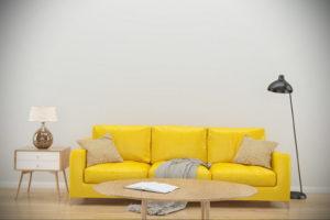 желтый цвет стен в интерьере 09.10.2019 №009 -yellow in interior- design-foto.ru