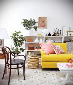 желтый цвет стен в интерьере 09.10.2019 №010 -yellow in interior- design-foto.ru
