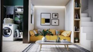 желтый цвет стен в интерьере 09.10.2019 №012 -yellow in interior- design-foto.ru