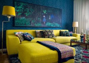 желтый цвет стен в интерьере 09.10.2019 №014 -yellow in interior- design-foto.ru