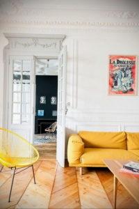 желтый цвет стен в интерьере 09.10.2019 №016 -yellow in interior- design-foto.ru