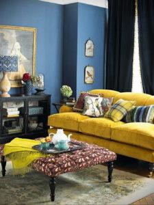 желтый цвет стен в интерьере 09.10.2019 №023 -yellow in interior- design-foto.ru