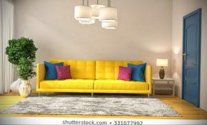 желтый цвет стен в интерьере 09.10.2019 №024 -yellow in interior- design-foto.ru