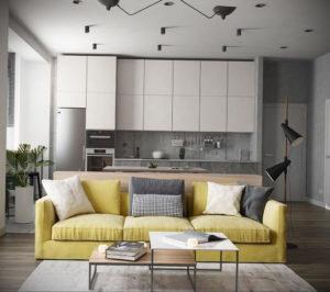 желтый цвет стен в интерьере 09.10.2019 №025 -yellow in interior- design-foto.ru