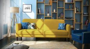 желтый цвет стен в интерьере 09.10.2019 №029 -yellow in interior- design-foto.ru