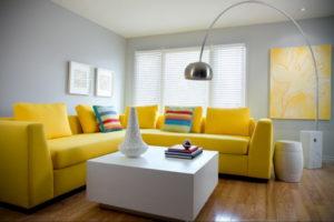 желтый цвет стен в интерьере 09.10.2019 №030 -yellow in interior- design-foto.ru