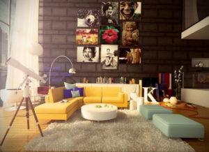 желтый цвет стен в интерьере 09.10.2019 №031 -yellow in interior- design-foto.ru
