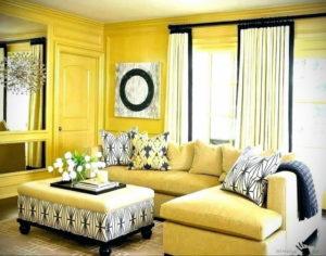 желтый цвет стен в интерьере 09.10.2019 №035 -yellow in interior- design-foto.ru